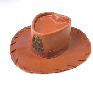 Disney Park YOUTH Woody Faux Leather Hat NWT
